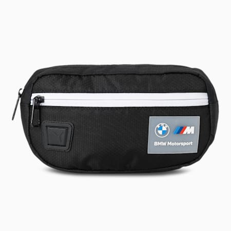 BMW M Motorsport Unisex Waist Bag, Puma Black, small-IND