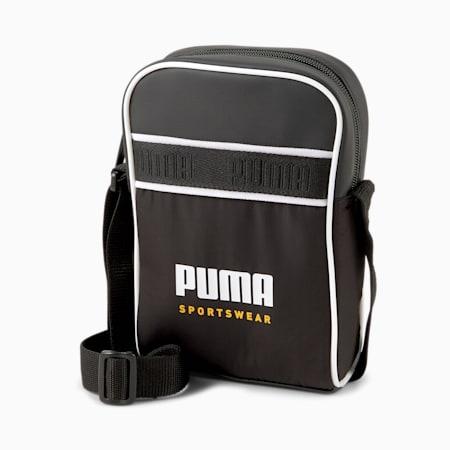 Campus Compact Portable Unisex Shoulder Bag, Puma Black, small-IND