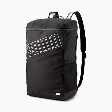 EvoEssentials Box Backpack, Puma Black, small-SEA