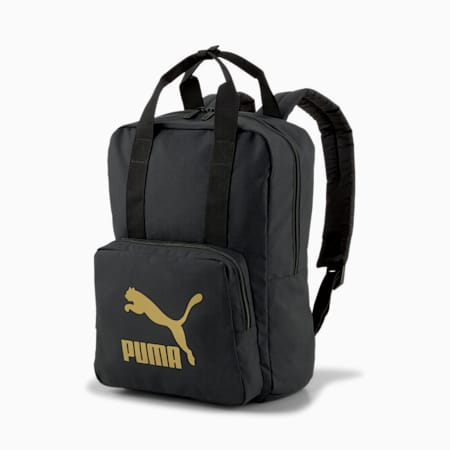 Originals Tote Backpack, Puma Black, small-SEA