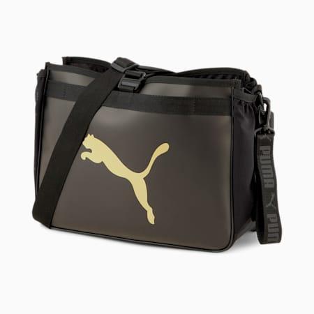 Active Organiser Training Grip Bag, Puma Black-Bright Gold, small