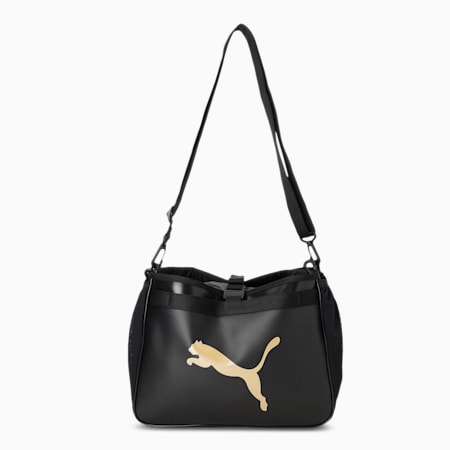Active Organizer Women's Grip Bag, Puma Black-Bright Gold, small-IND