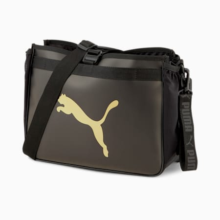 Active Organiser Training Grip Bag, Puma Black-Bright Gold, small-SEA