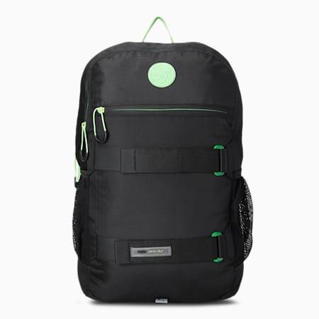 PUMA x SANTA CRUZ Unisex Backpack, Puma Black-Green Flash, small-IND