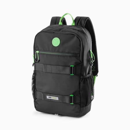 푸마 x 산타 크루즈 백팩/PUMA x SANTA CRUZ Backpack, Puma Black-Green Flash, small-KOR
