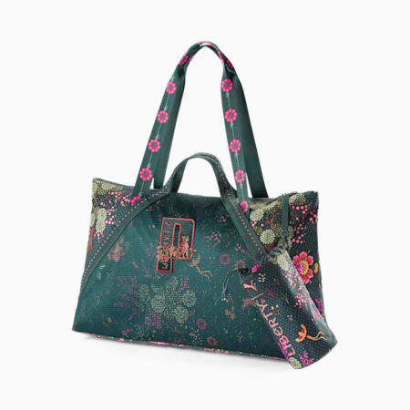 Bolso shopper mujer PUMA x LIBERTY, Green Gables-AOP, small