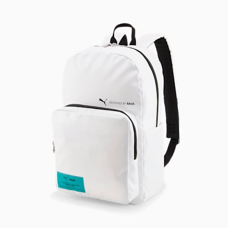 PUMA x BALR. Football Backpack, Puma White, small