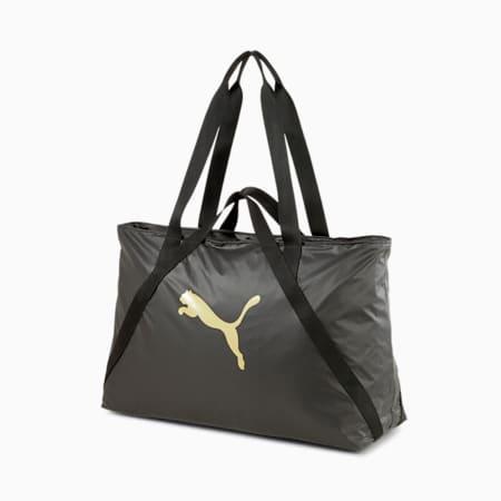 Bolso de entrenamiento Essentials Moto para mujer, Puma Black-Rose Gold, pequeño