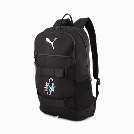 Neymar Jr Backpack, Black-White-Pink-Blue, small