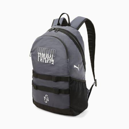 Neymar Jr Street Youth Football Backpack, Ebony-Nimbus Cloud, small