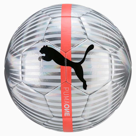 ONE Chrome Football, WhiteSilverBlack-Fiery coral, small-IND