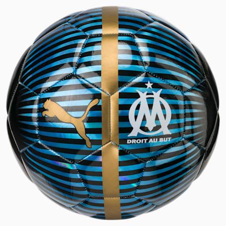 Olympique de Marseille PUMA ONE Chrome Ball, AZURE BLUE-Puma Black-Gold, small-IND