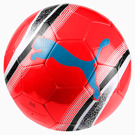 Ballon de foot pour l'entraînement PUMA Big Cat 3, Red Blast-Black-White, small
