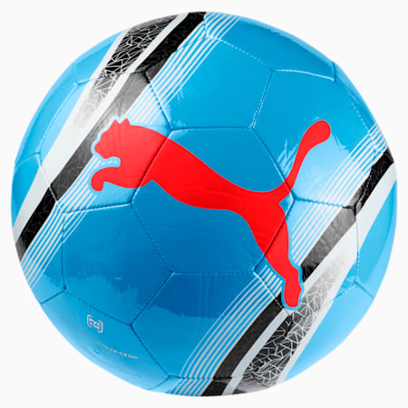 Ballon de foot pour l'entraînement PUMA Big Cat 3, Bleu Azur-Red Blast-Black, small