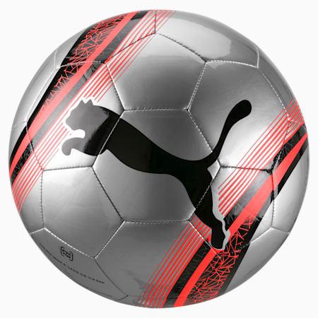 PUMA Big Cat 3 Training Football, Silver-Nrgy Red-Puma Black, small-SEA