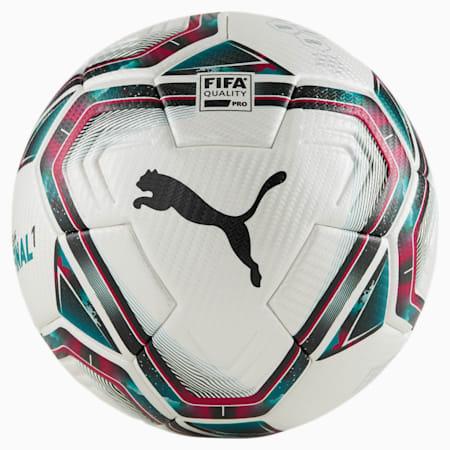 Balón de fútbol FINAL 1 FIFA Quality Pro, White-Rose Red-Ocean Depths, small