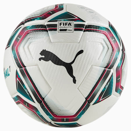 FINAL 1 FIFA Quality Pro voetbal, White-Rose Red-Ocean Depths, small