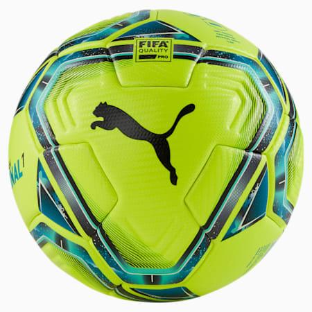 FINAL 1 FIFA Quality Pro Football, Lemon Tonic-Spectra Green-Ocean Depths-Puma Black-Omphalodes, small-GBR