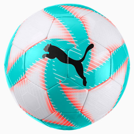 FUTURE Flare Soccer Ball, White-Turquoise-Nrgy Red-Blk, small