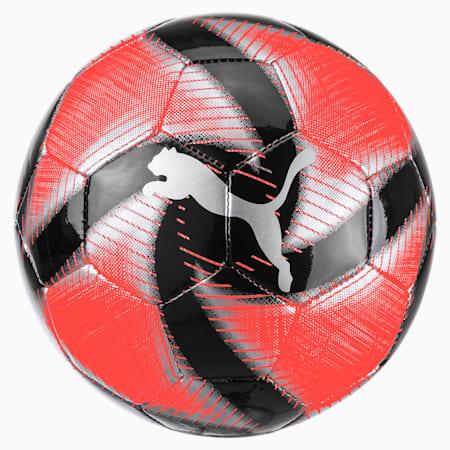 FUTURE Flare Mini Soccer Ball, Nrgy Red-Asphalt-Black-White, small