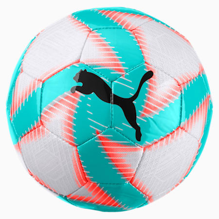 FUTURE Flare Mini Soccer Ball, White-Turquoise-Nrgy Red-Blk, small