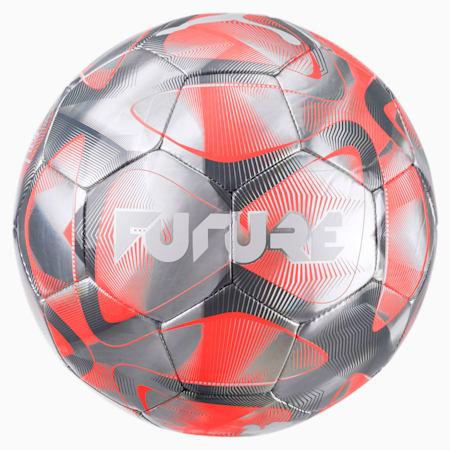 Pelota de fútbol FUTURE Flash, Gris-Nrgy Red-CASTLE-Blanco, pequeño