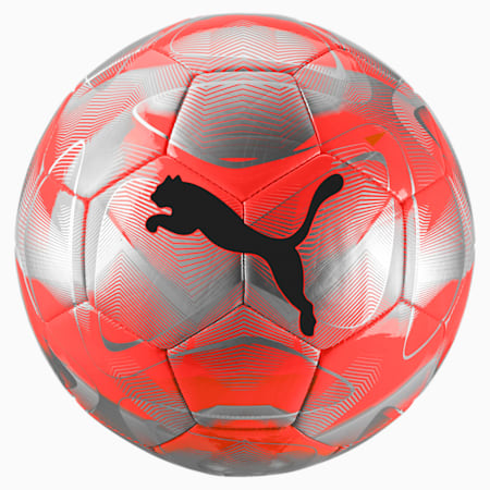 Pelota de fútbol FUTURE Flash, Nrgy Red-Plateado-Gris-Negro, pequeño