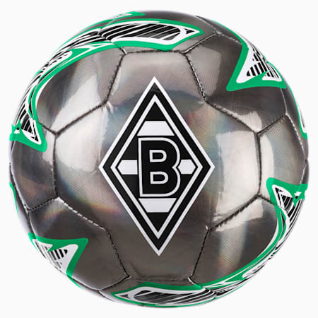 Borussia Mönchengladbach PUMA ONE Laser Mini Ball, Puma Black-Bright Green, small