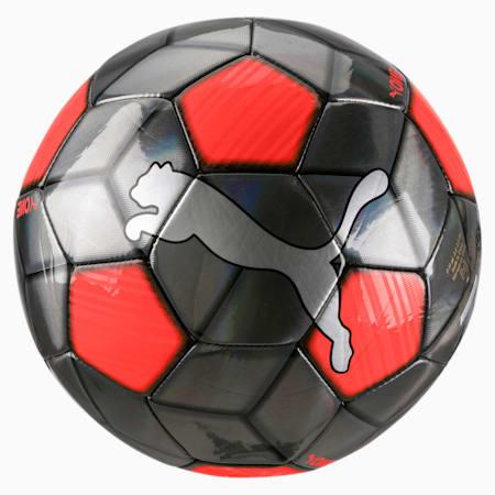 PUMA One Strap Soccer Ball, Silver-Nrgy Red-Puma Black, small