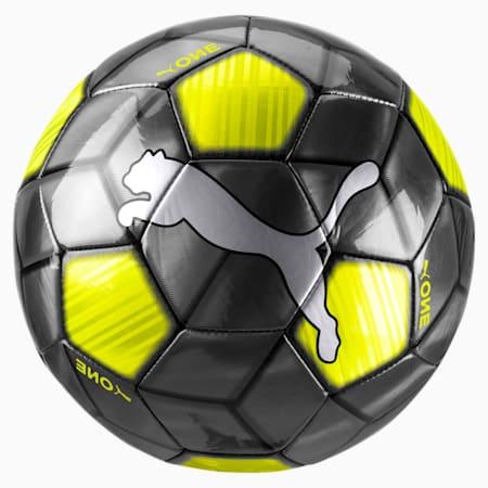 PUMA One Strap Soccer Ball, Black-Yellow Alert-White, small