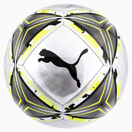 FtblNXT SPIN Football, Silver-Fizzy Yellow-Black, small