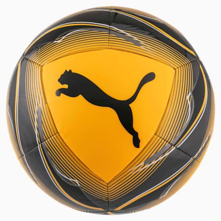 ftblNXT ICON Soccer Ball, ULTRA YELLOW-Black-Orange, small