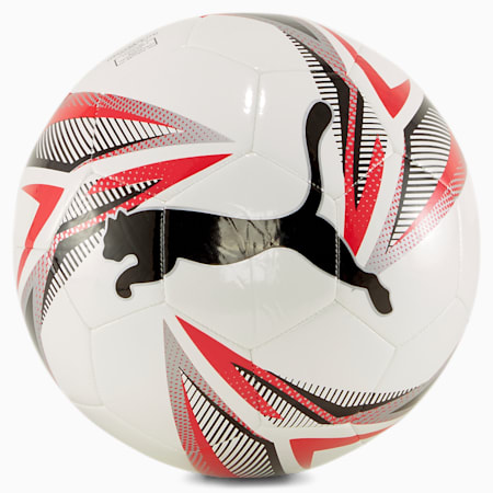 Balón de fútbol ftblPLAY Big Cat, White-Black-Puma Red-Silver, small