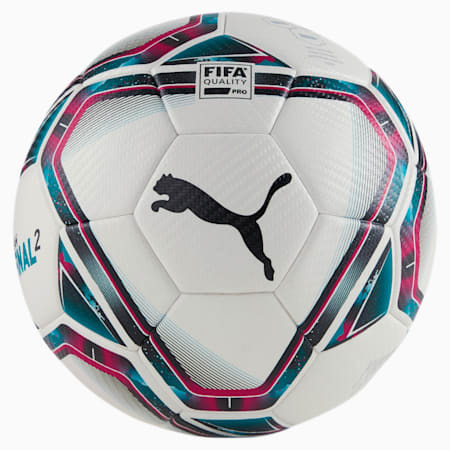 FINAL 2 FIFA Quality Pro voetbal, White-Rose Red-Ocean Depths, small