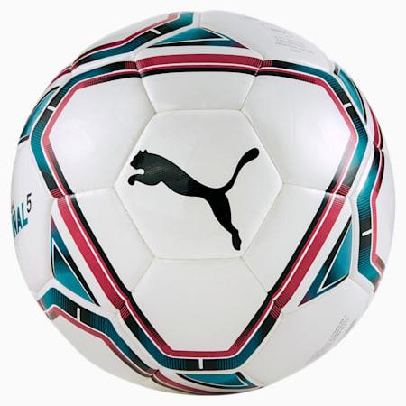FINAL 5 Hybrid Football, Puma White-Rose Red-Ocean Depths-Puma Black, small