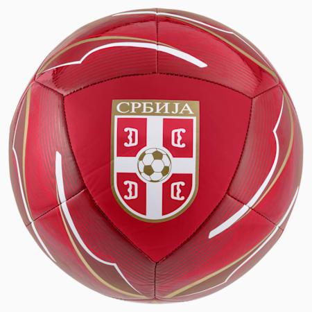 Piłka Serbia Icon, Chili Pepper-Victory Gold, small