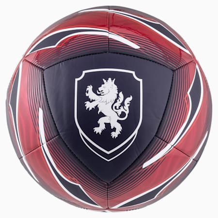 Czech Republic Icon Football, Peacoat-Chili Pepper, small