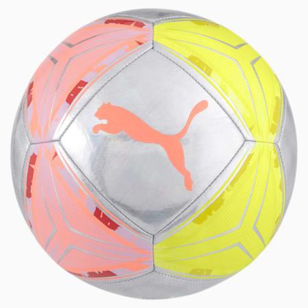 Ballon de foot SPIN, Nrgy Peach-Fizzy Yellow, small