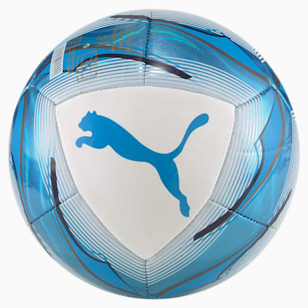 Mini ballon de football Olympique de Marseille Icon, Puma White-Bleu Azur, small