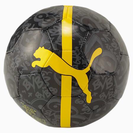 BVB ftblCORE Fan Mini Training Football, Puma Black-Cyber Yellow, small