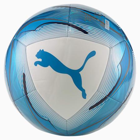 Ballon de football Olympique de Marseille Icon, Puma White-Bleu Azur, small