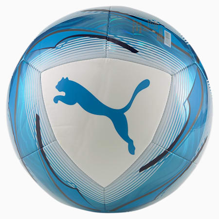 Olympique de Marseille Icon Football, Puma White-Bleu Azur, small