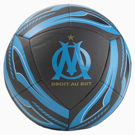 Olympique de Marseille Icon voetbal, Puma Black-Bleu Azur, small