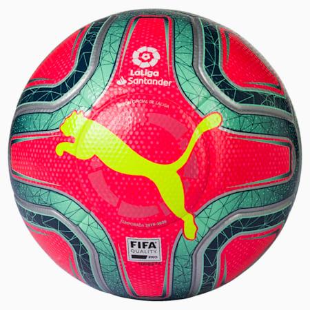 LaLiga 1 FIFA Quality Pro Football, Pink Alert-Yellow-Green, small