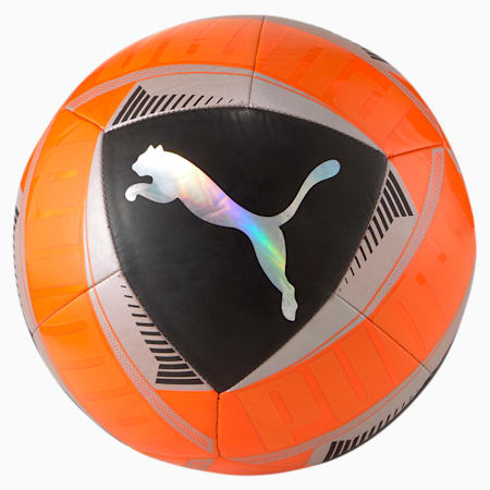 PUMA Icon Training Ball, Shocking Orange-Black-Silver, small