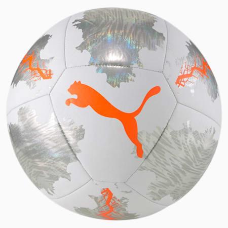 PUMA Spin Training Ball, Puma White-Shocking Orange, small