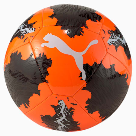 Spin Training Football, Shocking Orange-Black-White, small-SEA