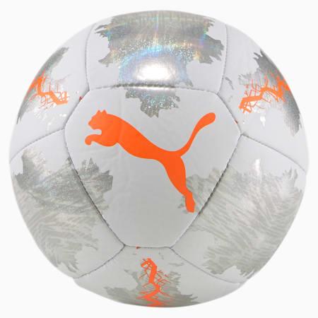 Mini ballon de soccer PUMA Spin, Blanc Puma-Orange audacieux, petit