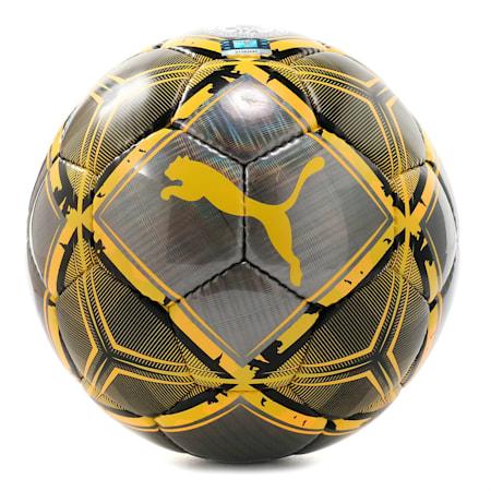 プーマ スピン サッカー ボール SC, Black-ULTRA YELLOW-Orange, small-JPN