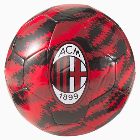 ACM Iconic Big Cat Training Football, Puma Black-Tango Red, small